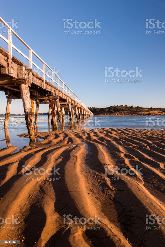 Victor Harbour to Granite Island Bridge stock photo