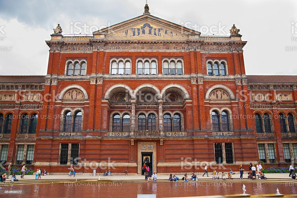 Victoria and Albert Museum of design, London. stock photo