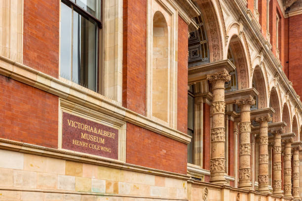 Victoria and Albert Museum sign stock photo