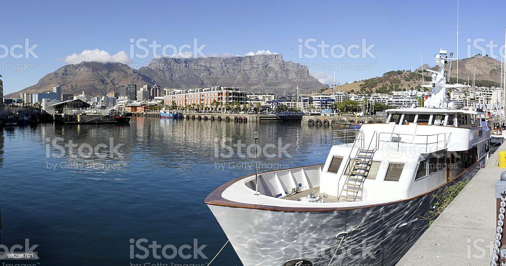 Victoria and Alfred Waterfront harbour, Table Mountain royalty-free stock photo
