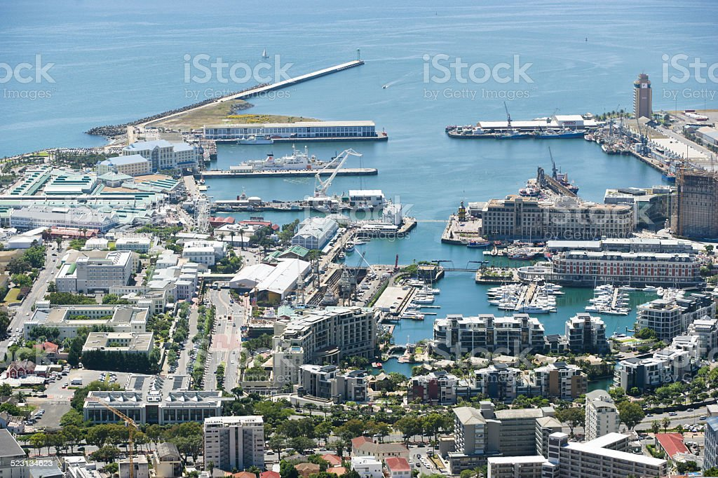 Victoria and Alfred Waterfront in Cape Town stock photo