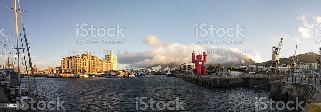 Victoria and Alfred Waterfront Panorama, Cape Town, South Africa stock photo