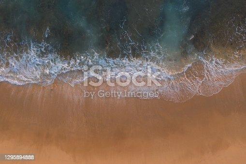 Summer aerial beach photograph captured in Victoria, Australia