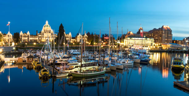 Victoria BC at Night. - foto stock