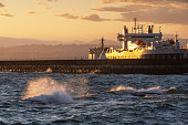 Ogden Point Breakwater during sunset in Victoria,BC,Canada.