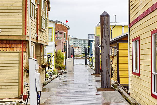 Victoria, BC, Floating Community stock photo