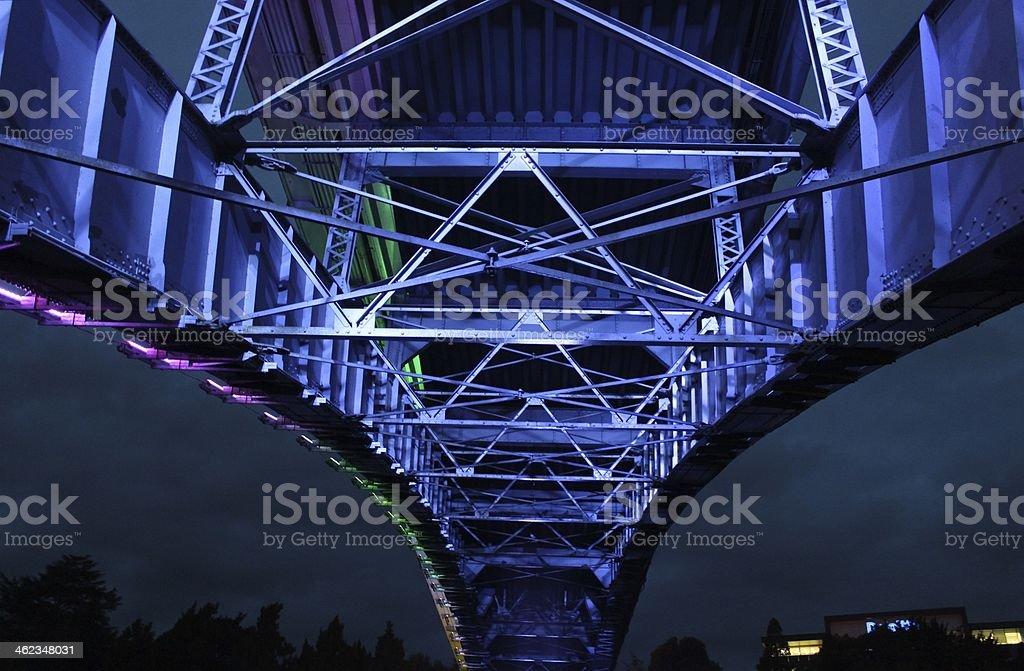 Victoria bridge Hamilton New Zealand stock photo