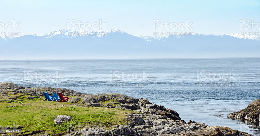 Victoria Chairs with a View royalty-free stock photo