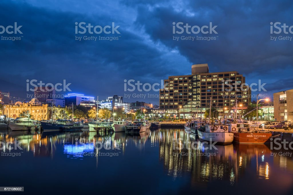 Victoria Dock Hobart City Waterfront Tasmania Australia stock photo