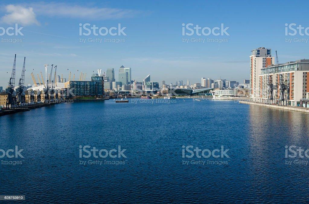 Victoria Dock, London stock photo