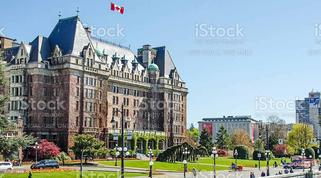 Victoria  Empress Hotel royalty-free stock photo