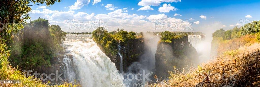 Victoria Falls Africa Panorama stock photo