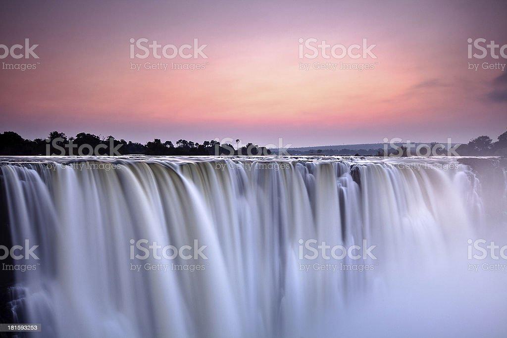 Victoria Falls at Dawn stock photo