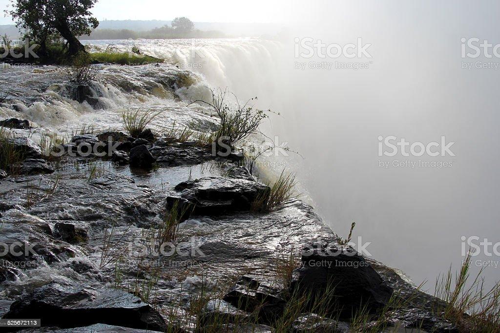 Victoria Falls, border between Zimbabwe and Zambia stock photo
