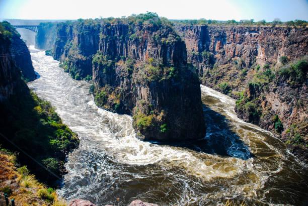 Victoria Falls Horseshoe stock photo