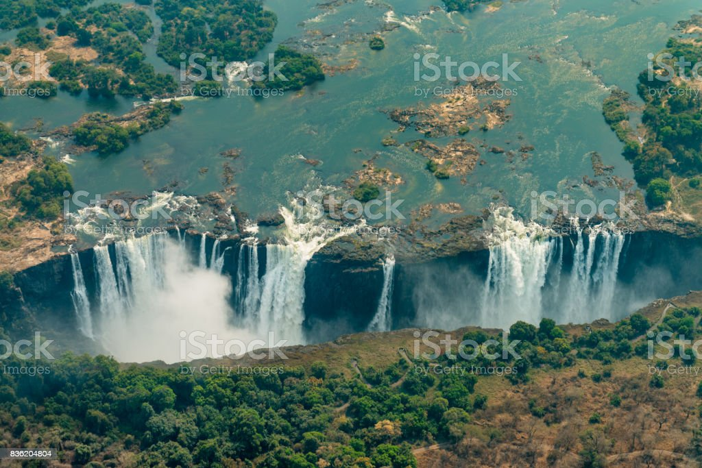 Victoria Falls In Zimbabe At Drought Stock Photo Download