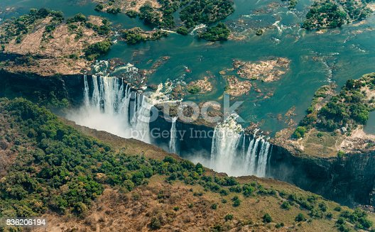 istock Victoria Falls in Zimbabe at drought 836206194