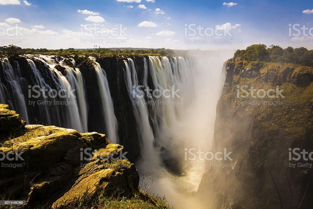 Victoria falls in Zimbabwe stock photo