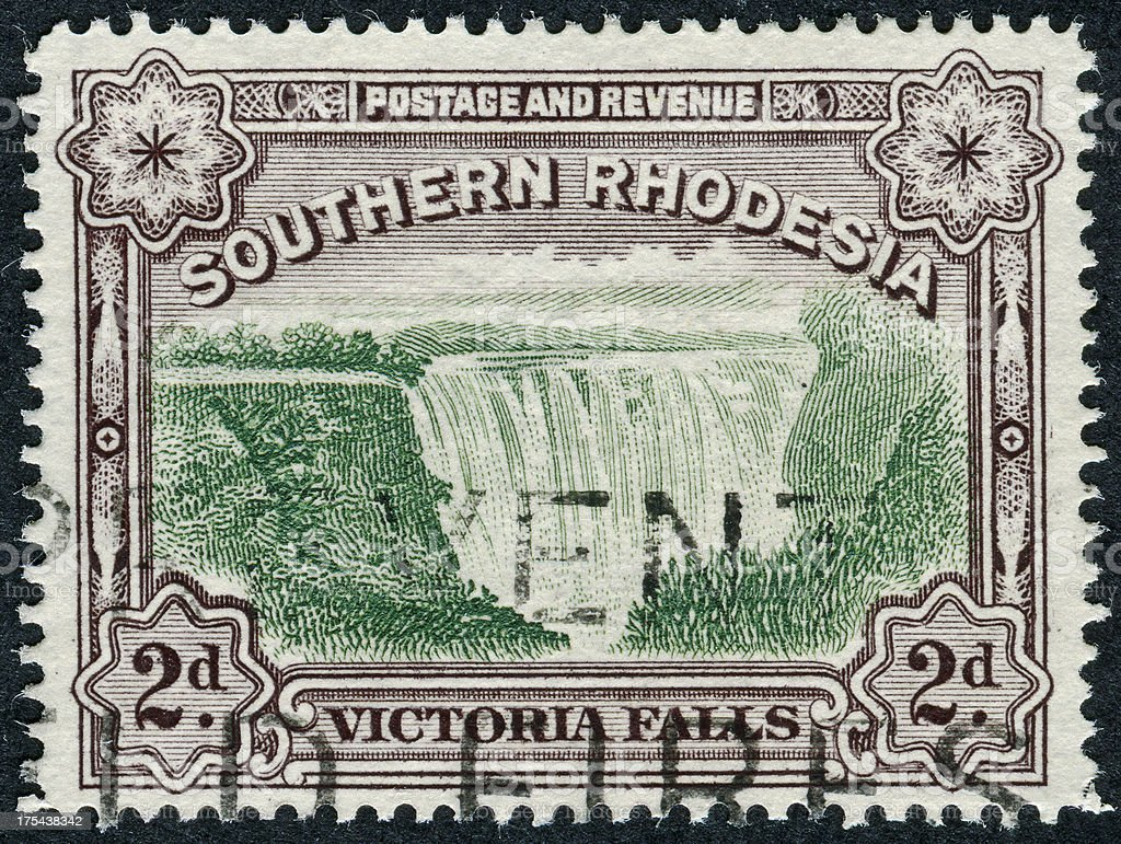Victoria Falls Stamp stock photo