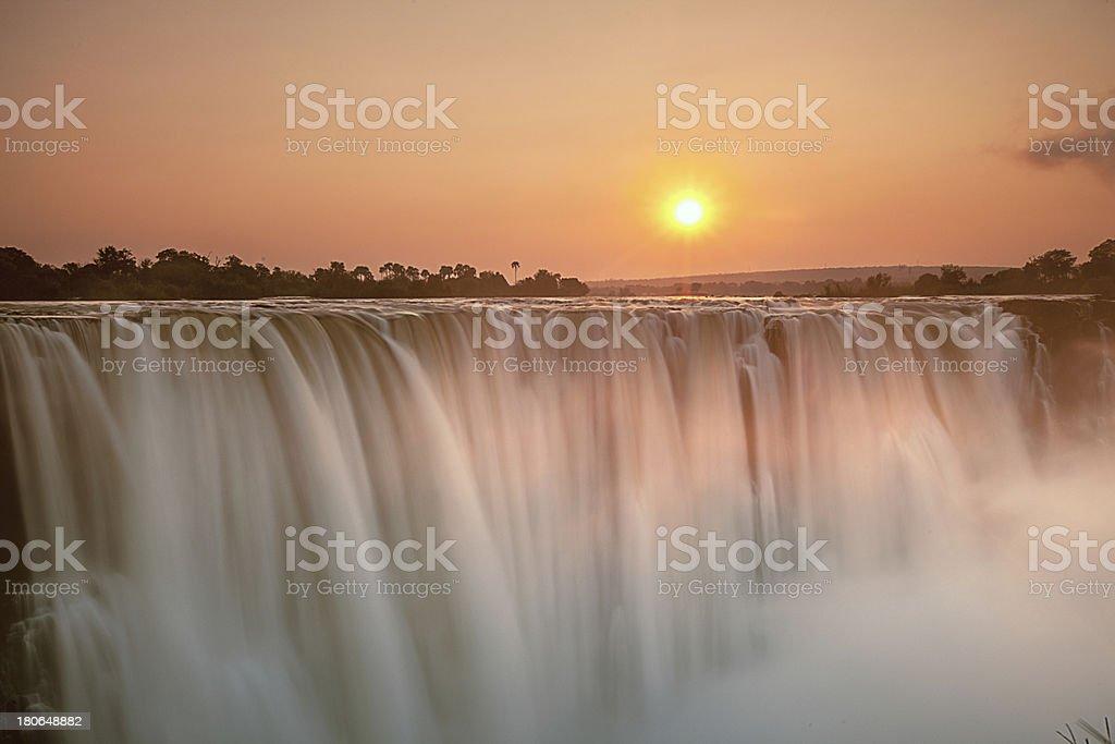 Victoria Falls sunrise stock photo