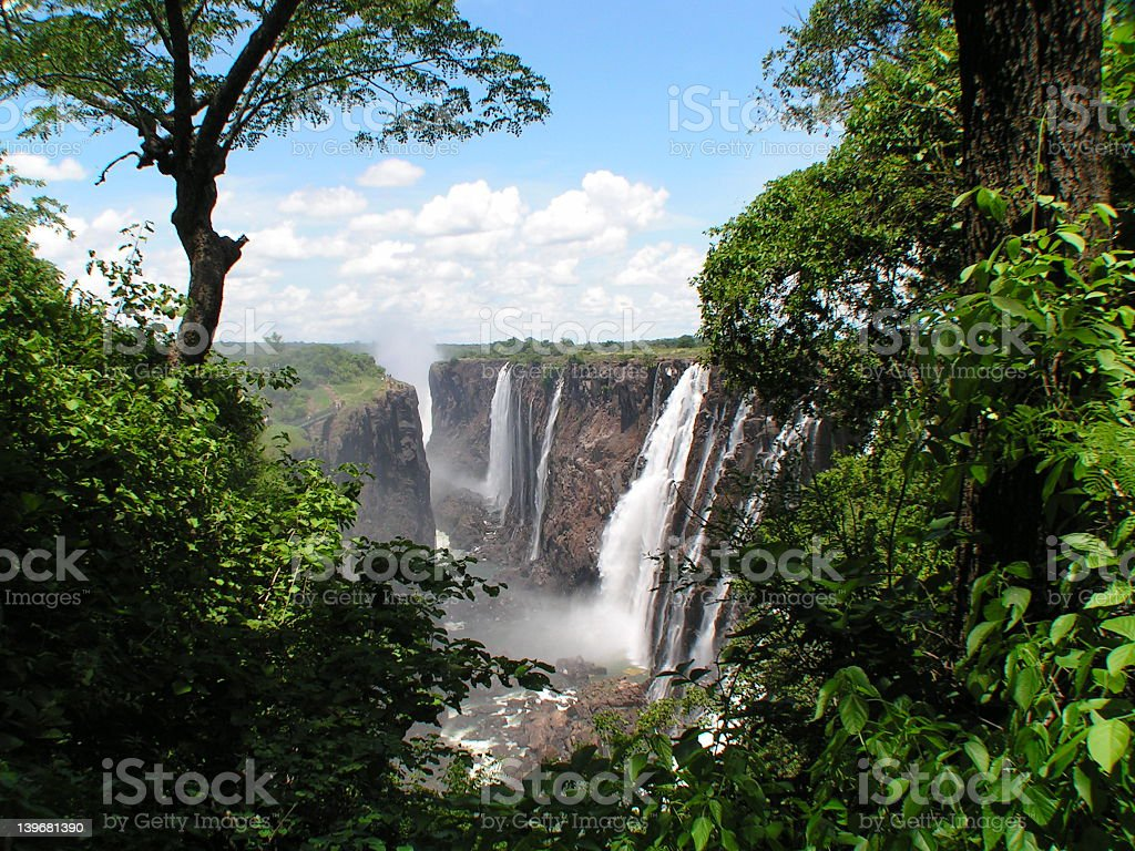 Victoria Falls, Zambia stock photo