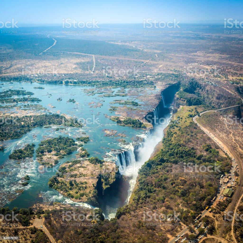 Victoria Falls Zimbabwe Africa Stock Photo Download Image
