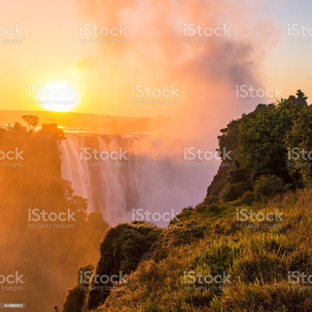 Victoria Falls, Zimbabwe, Africa stock photo