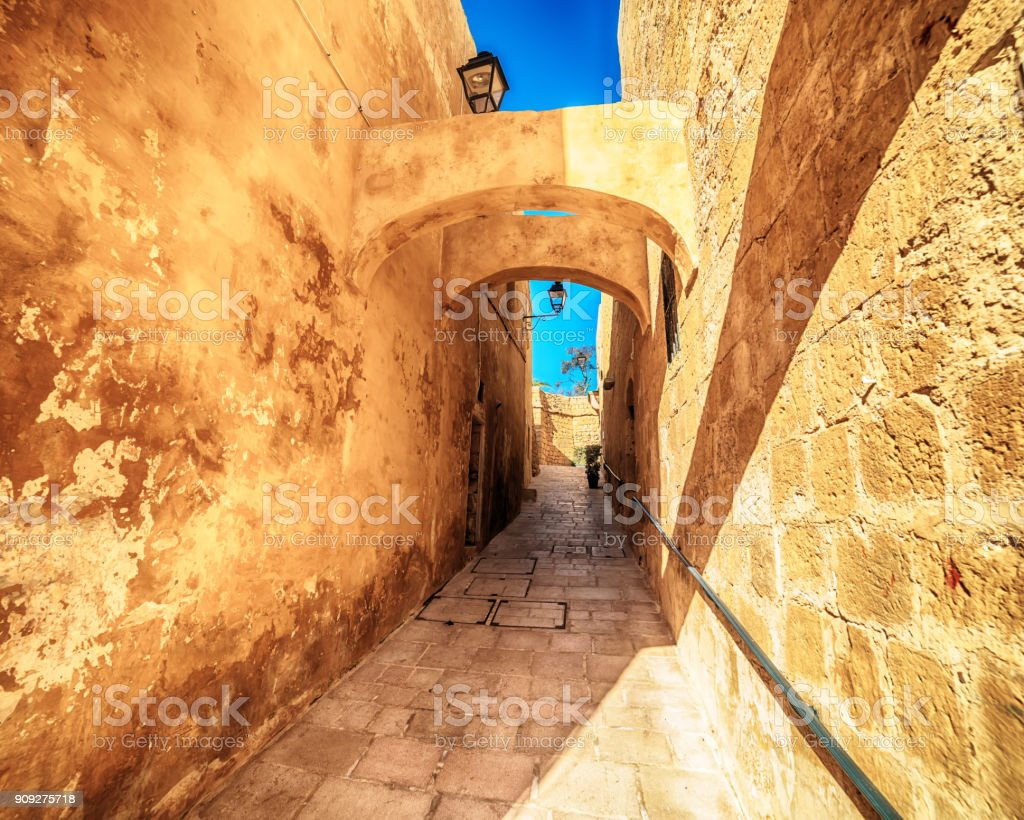 Victoria, Gozo island, Malta: the Cittadella stock photo