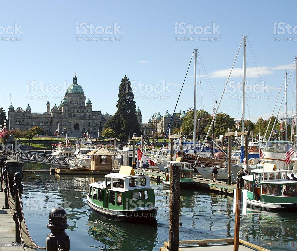 Victoria Harbor & Parliament Building stock photo