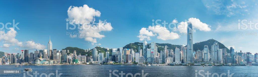 Victoria Harbor av Hong Kong city - Royaltyfri Asien Bildbanksbilder
