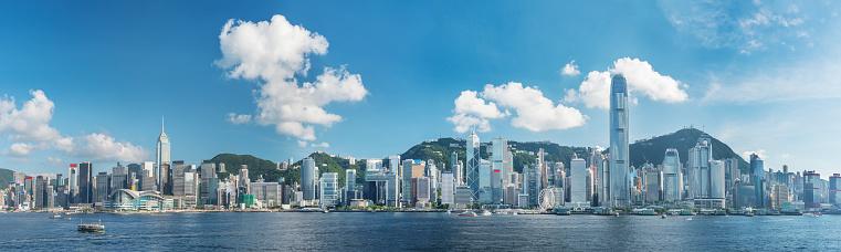 Victoria Harbor Av Hong Kong City-foton och fler bilder på Asien