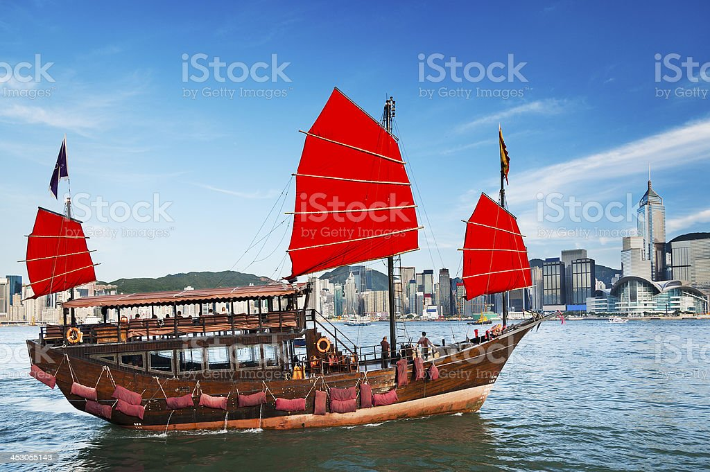 Victoria Harbor of Hong Kong stock photo