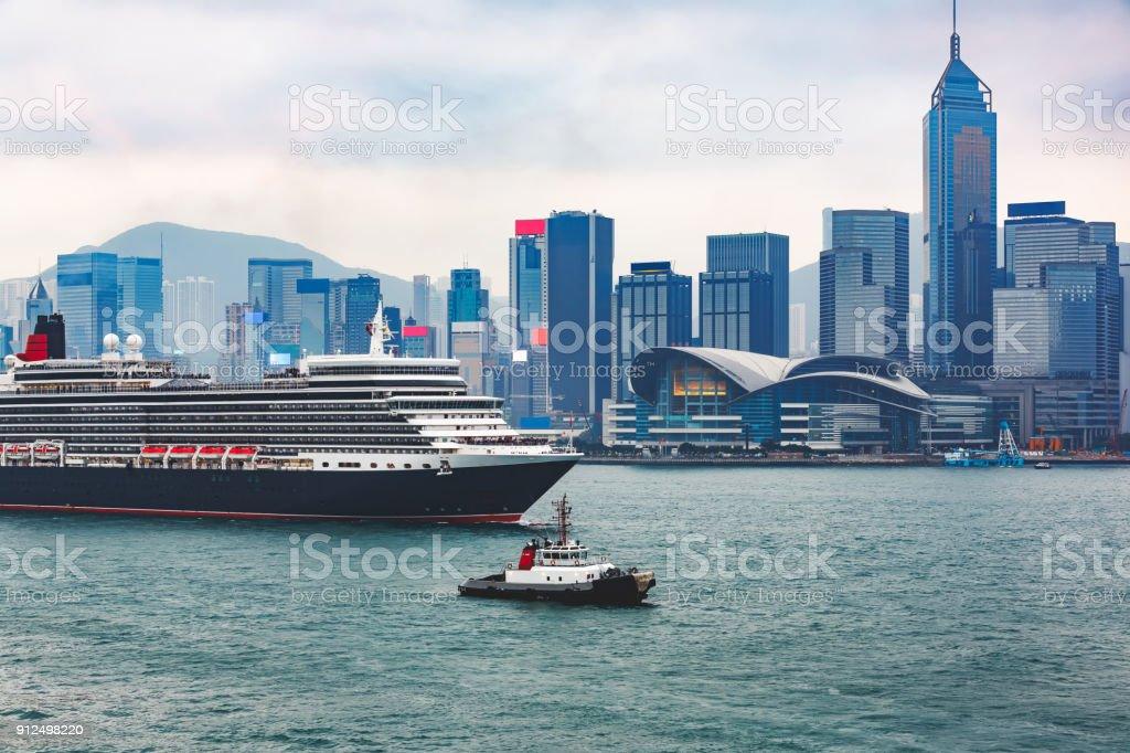 Victoria Harbour, Hong Kong stock photo