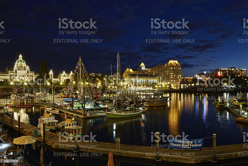 Victoria Inner Harbour, Parliament Building, British Columbia, Canada royalty-free stock photo