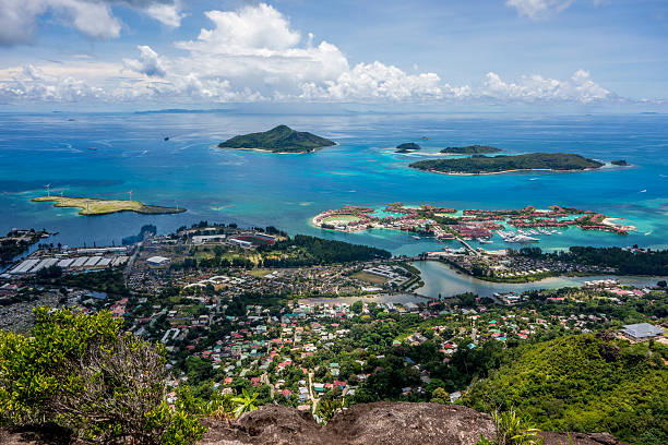 Victoria - Mahe - Seychelles stock photo