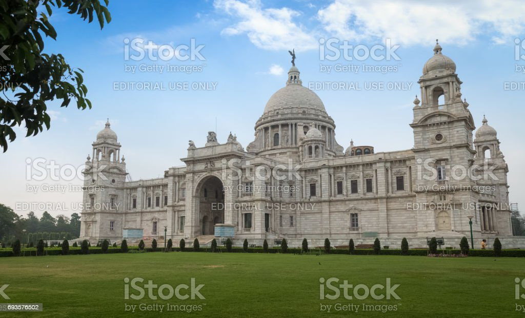 Victoria Memorial architectural monument and museum built in the memory of Queen Victoria at Kolkata India. stock photo