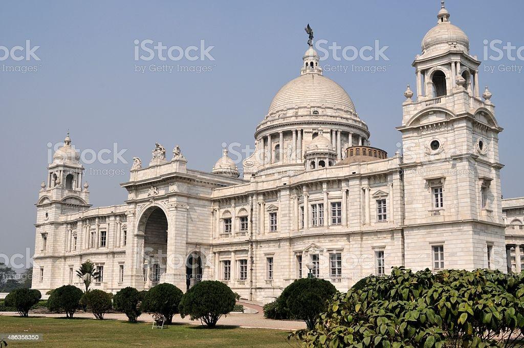 Victoria Memorial in Kalkutta, Indien stock photo