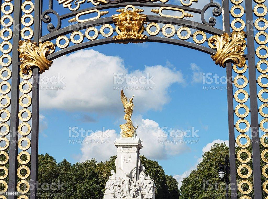 Victoria Memorial in London royalty-free stock photo