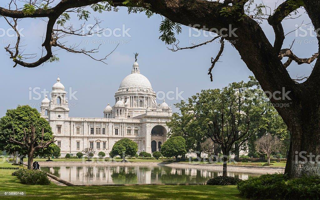 Victoria Memorial, Kolkata, Bengal, India. stock photo