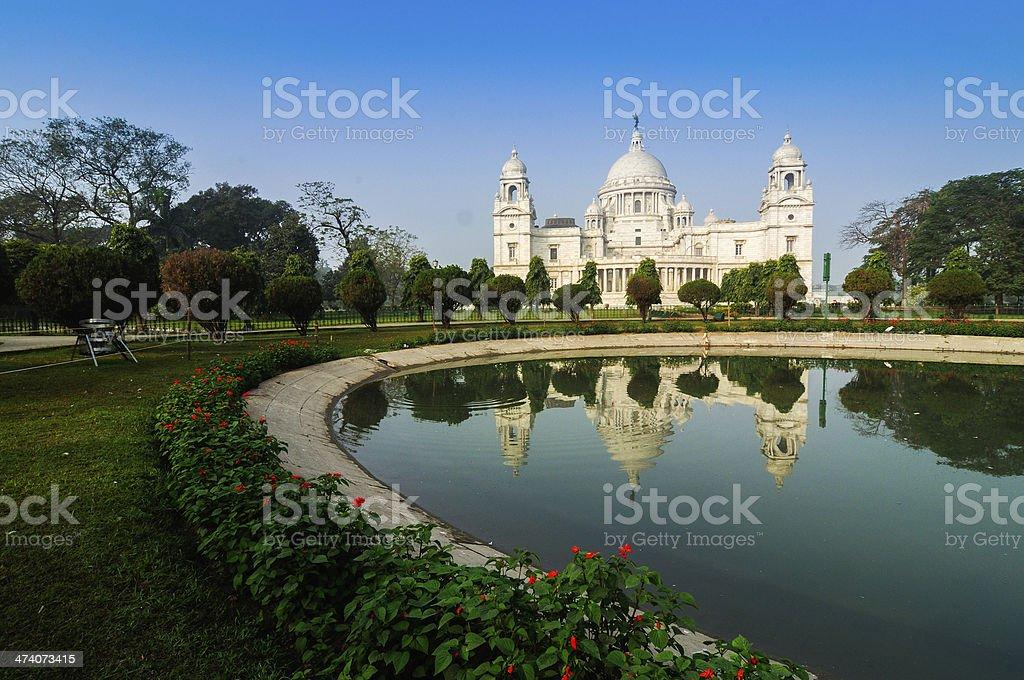 빅토리아 기념관, Kolkata, India-성찰이요 on. 스톡 사진