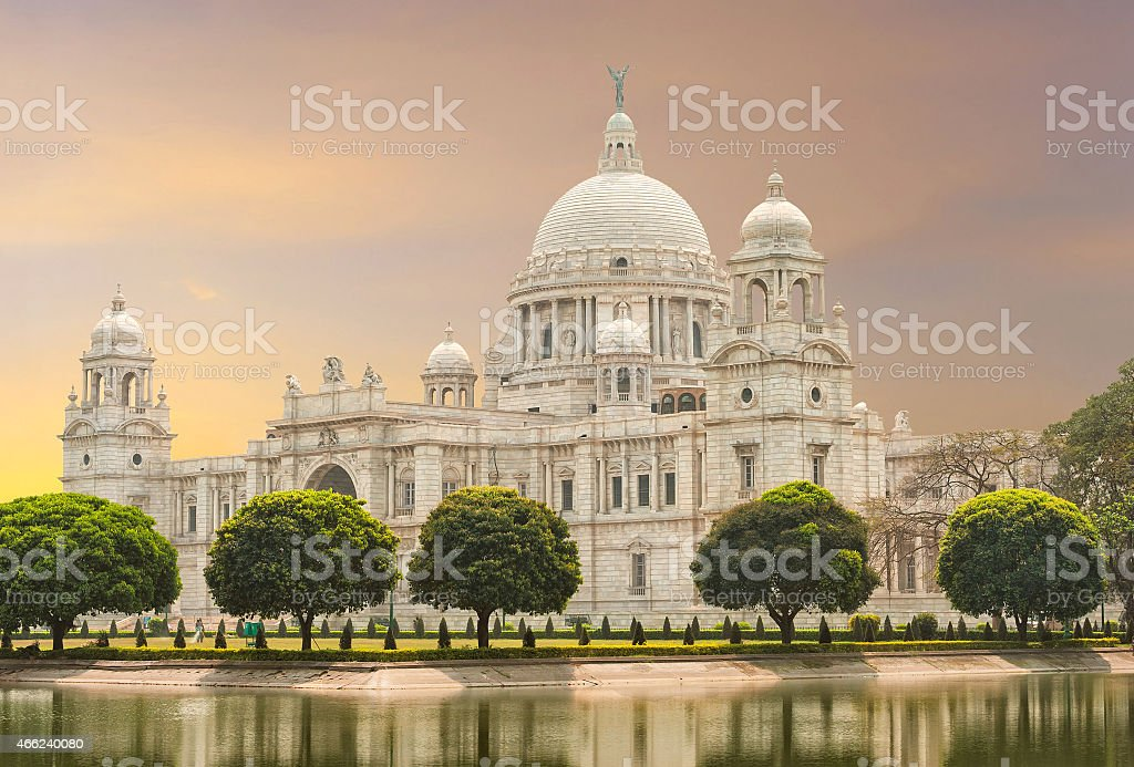 Victoria Memorial landmark in Calcutta India stock photo
