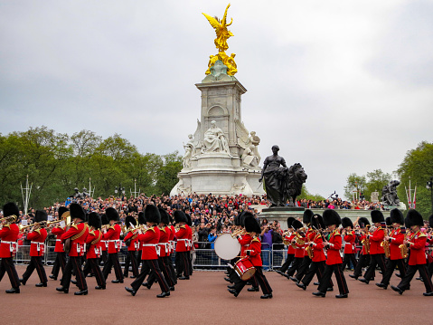 NOV.27.2018, Alternating ceremony of the Royal Horse guards, LONDON, UK.\nThe Royal Horse guards alternation ceremony and tourists' eyes.