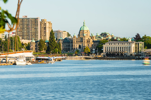 Victoria Skyline and Inner Harbour at Sunset