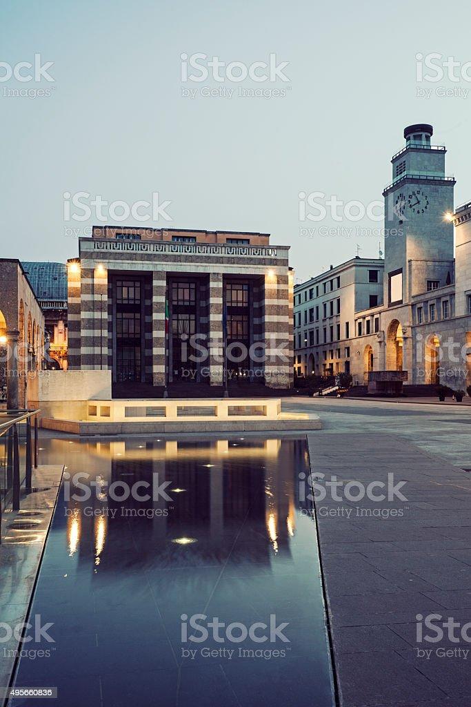 Piazza Victoria a Brescia - foto stock