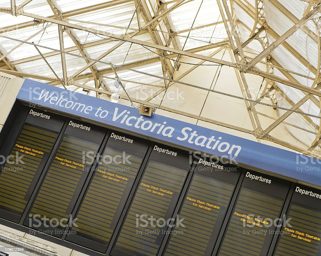 Victoria Station City of Westminster UK royalty-free stock photo