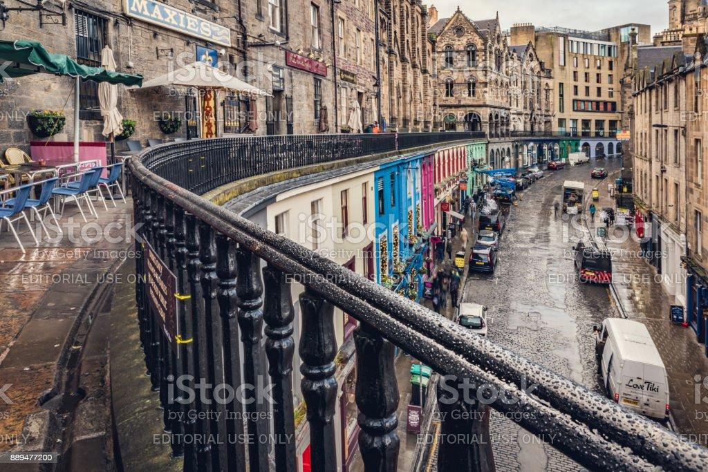 Victoria Street in Edinburgh stock photo