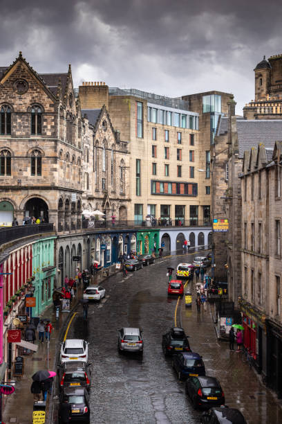 Victoria Street in Edinburgh, Scotland stock photo