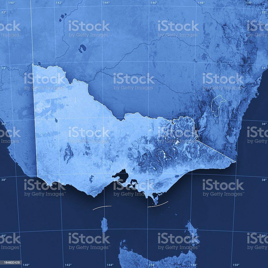 Victoria Topographic Map stock photo