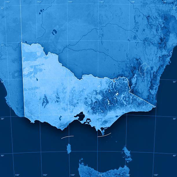 victoria mappa topografica - victoria australia foto e immagini stock
