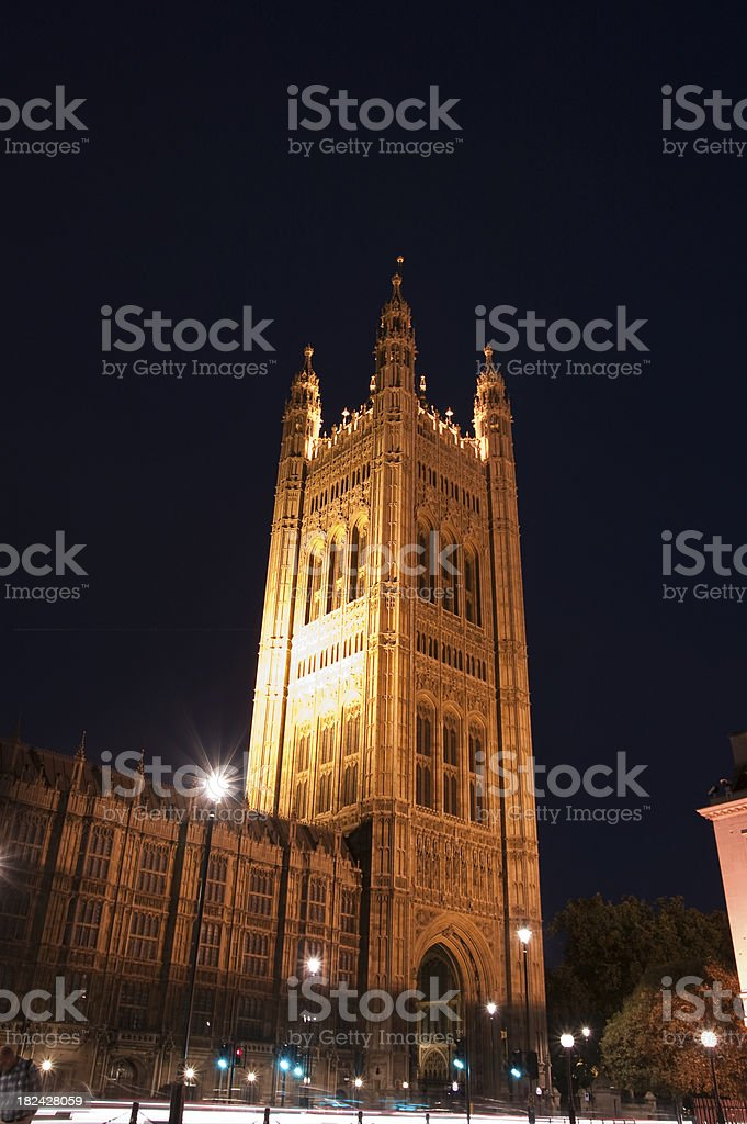 Victoria Tower at dusk royalty-free stock photo